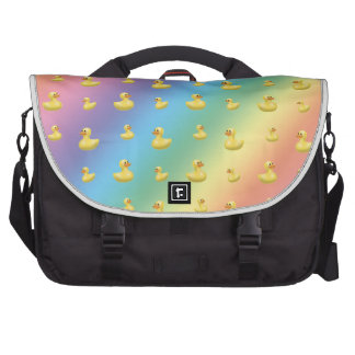 Rainbow rubber duck pattern laptop bags