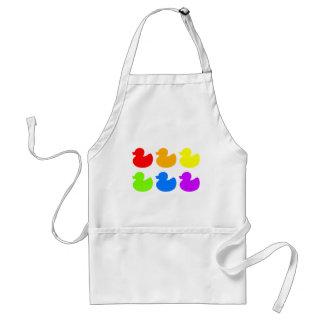 Rainbow Rubber Ducks Adult Apron