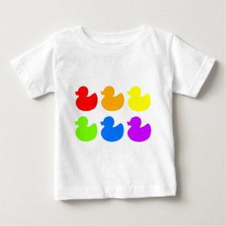 Rainbow Rubber Ducks Baby T-Shirt