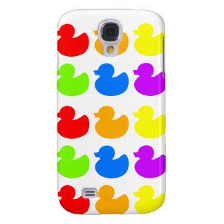 Rainbow Rubber Ducks Galaxy S4 Cases