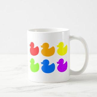 Rainbow Rubber Ducks Coffee Mug