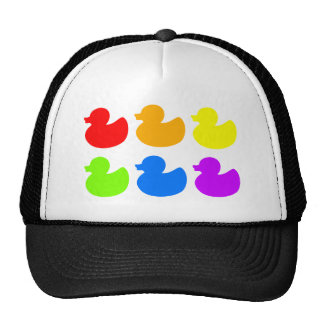 Rainbow Rubber Ducks Mesh Hats