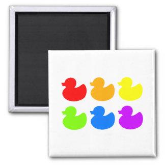 Rainbow Rubber Ducks Fridge Magnets