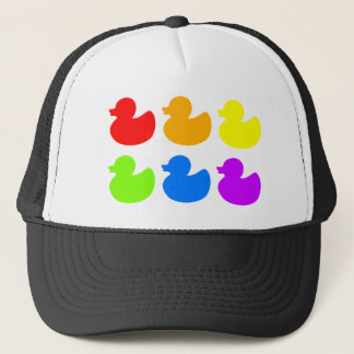Rainbow Rubber Ducks Trucker Hat
