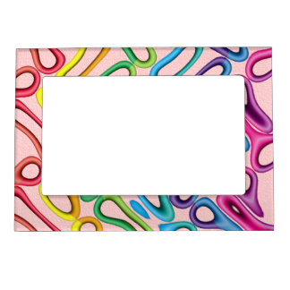 Rainbow Rubber Rings1 Magnetic Photo Frame