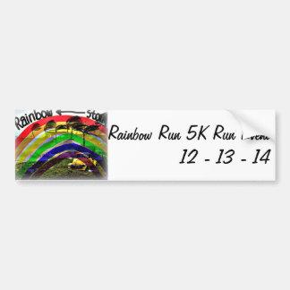 Rainbow Run 5K Run Bumper Sticker