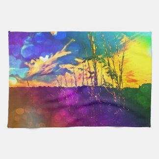 Rainbow Rural Landscape Towel