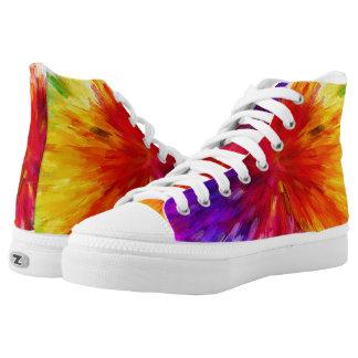 Rainbow Rush Zipz High Top Printed Shoes