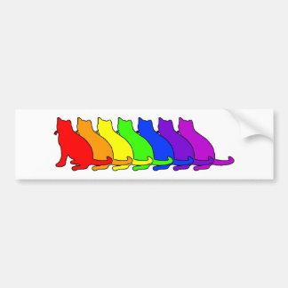 Rainbow Russian Blue Bumper Sticker