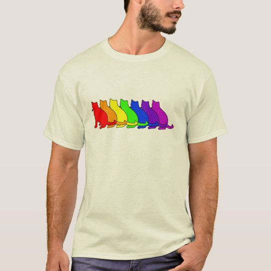 Rainbow Russian Blue T-Shirt
