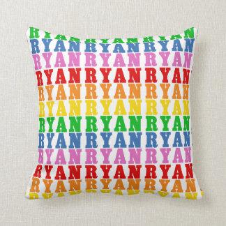 Rainbow Ryan Throw Pillow