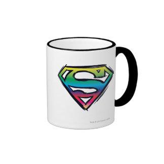 Rainbow S-Shield Ringer Coffee Mug