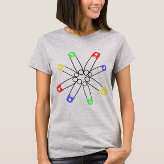 Rainbow Safety Pin Solidarity Resist T-Shirt