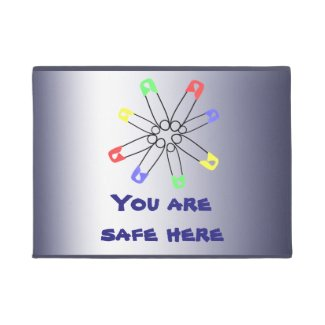 Rainbow SafetyPin Solidarity Red Blue Yellow Green