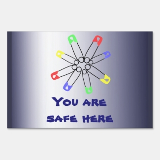 Rainbow SafetyPin Solidarity Red Blue Yellow Yard