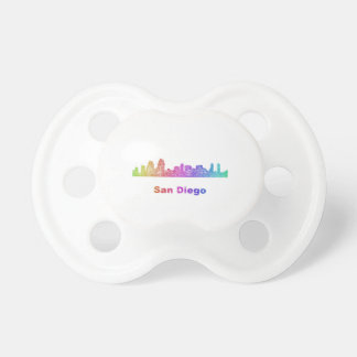 Rainbow San Diego skyline Pacifier