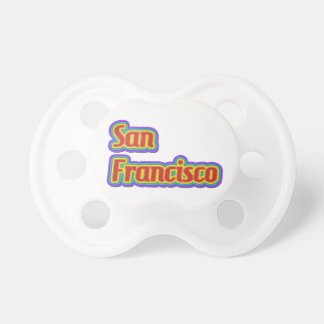 Rainbow San Francisco - on White Pacifier
