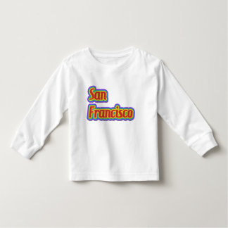 Rainbow San Francisco - on White Toddler T-shirt