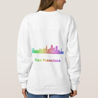 Rainbow San Francisco skyline Sweatshirt