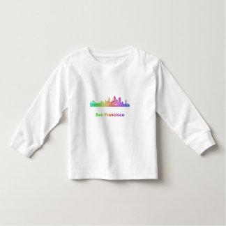 Rainbow San Francisco skyline Toddler T-shirt