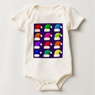 Rainbow Santa Hat Baby Bodysuit