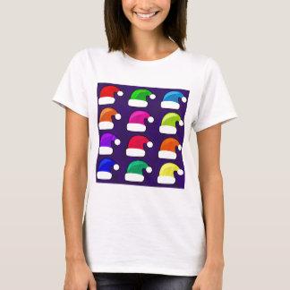Rainbow Santa Hat T-Shirt
