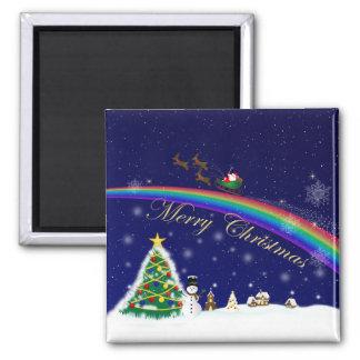 Rainbow Santa Magnet