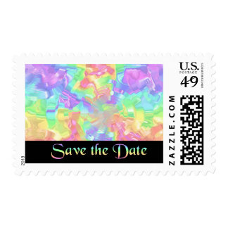 Rainbow Save the Date Postage