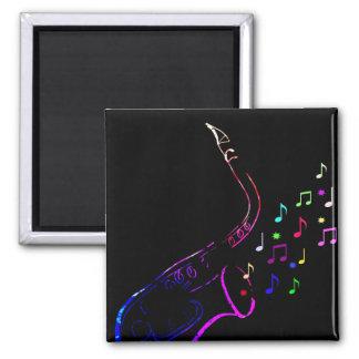 Rainbow saxophone Magnet