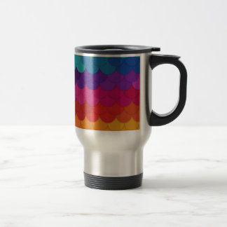 Rainbow Scallops Travel Mug
