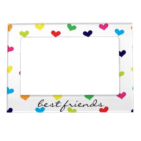 rainbow scattered heart best friends frame zazzle com rh zazzle com Friends Keyhole Frame Friends Keyhole Frame