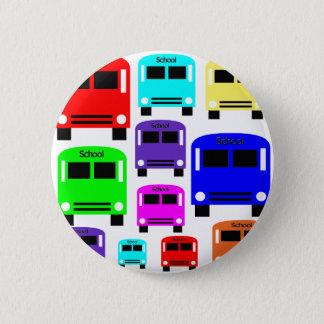 rainbow school buses button
