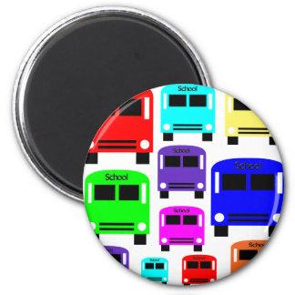 rainbow school buses magnet