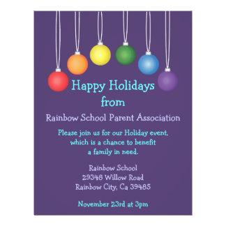 Rainbow School Holiday Flyer