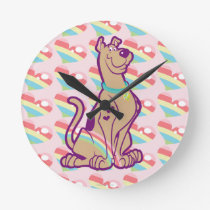 Rainbow Scooby-Doo Round Clock