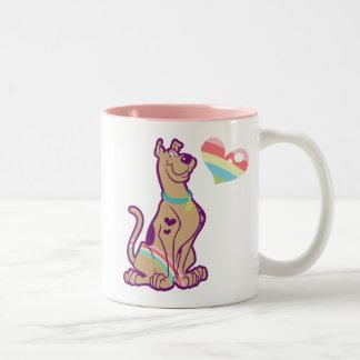 Rainbow Scooby-Doo Two-Tone Coffee Mug