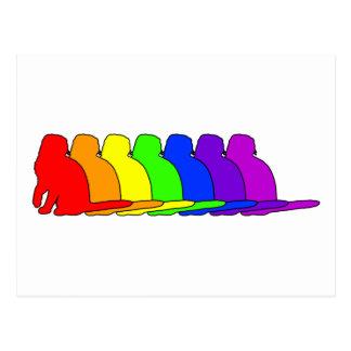 Rainbow Scottish Fold Postcard