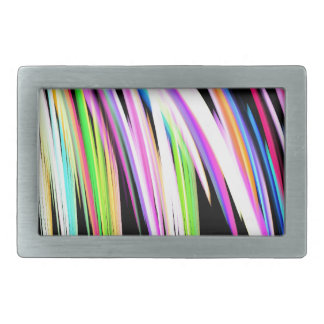 Rainbow Scribble Rectangular Belt Buckle