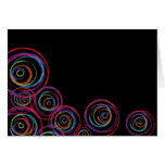 Rainbow Scribble Circles Greeting Cards