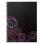 Rainbow Scribble Circles Note Books