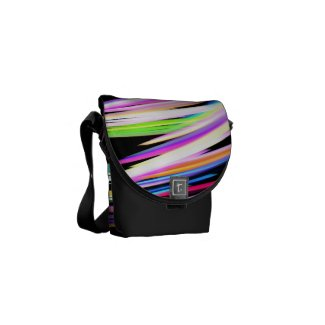 Rainbow Scribble Courier Bag