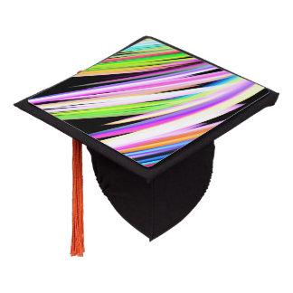 Rainbow Scribble Graduation Cap Topper