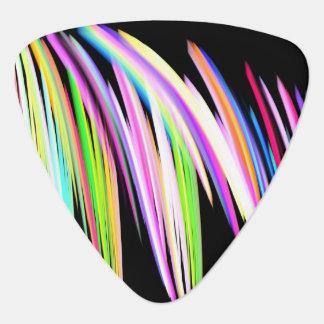 Rainbow Scribble Guitar Pick