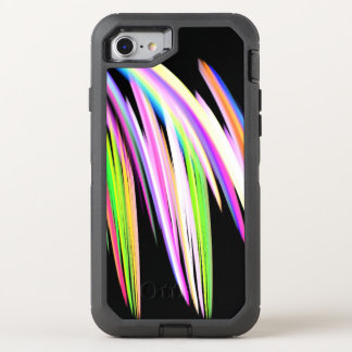 Rainbow Scribble OtterBox Defender iPhone 7 Case