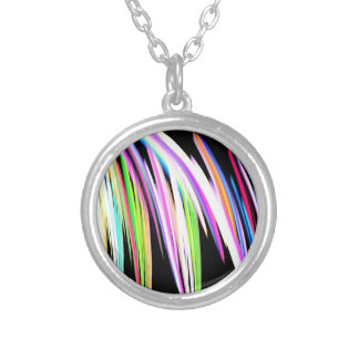 Rainbow Scribble Silver Plated Necklace