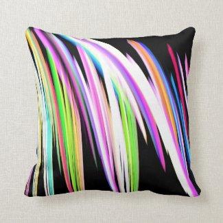 Rainbow Scribble Throw Pillows