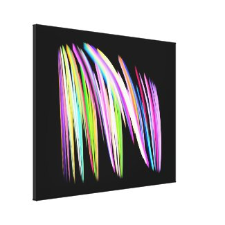Rainbow Scribble Wrapped Canvas Print