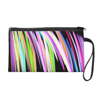 Rainbow Scribble Wristlet Purse