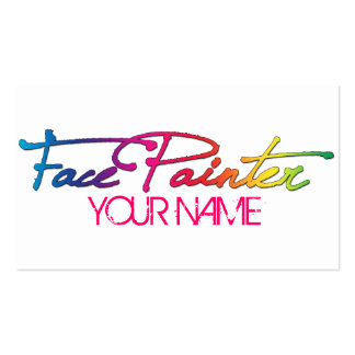 Rainbow Script Double-Sided Standard Business Cards (Pack Of 100)