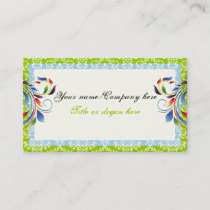leaf border business cards zazzle